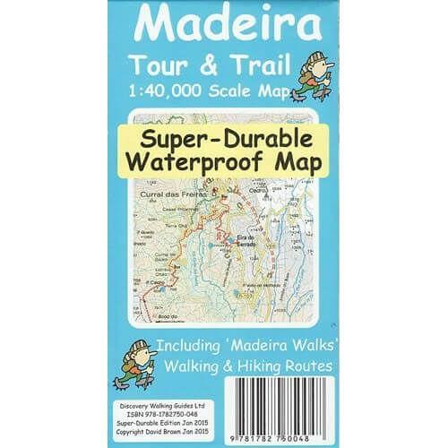 Madeira Wanderkarte 1:40.000: Madeira Tour & Trail Map, reiss- und wasserfest