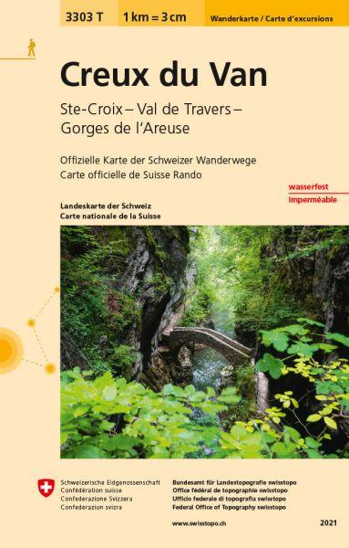 3303 T Creux du Van Wanderkarte 1:33.333 wetterfest - Swisstopo