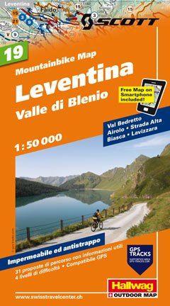 Hallwag Mountainbike Map Bl.19, Leventina, Valle Blenio, 1:50.000, Wasser- und reißfest