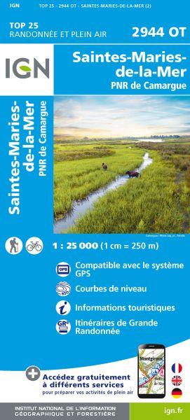 IGN 2944 OT Stes-Maries-de-la-Mer, Frankreich Wanderkarte 1:25.000