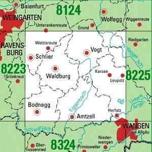 8224 VOGT topographische Karte 1:25.000 Baden-Württemberg, TK25