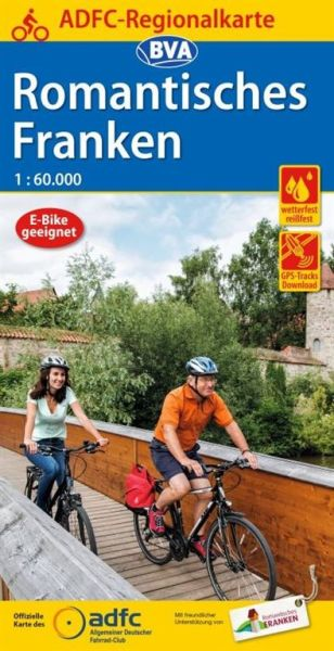 ADFC-Regionalkarte Romantisches Franken Radwanderkarte 1:60.000