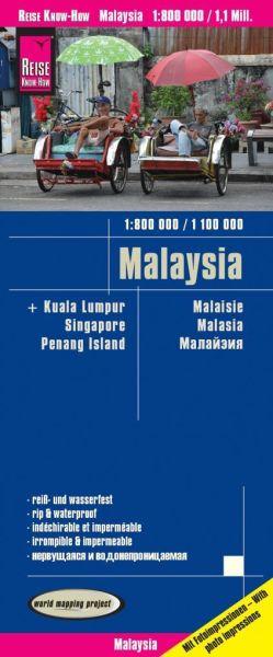 Malaysia Landkarte 1:800.000 / 1:1.000.000, Reise Know-How
