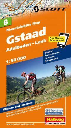 Hallwag Mountainbike Map Bl.6, Gstaad, Adelboden, Lenk, 1:50.000, Wasser- und reißfest
