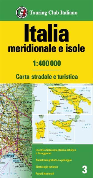 Süditalien Straßenkarte, TCI, 1:400.000
