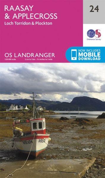 Landranger 24 Raasay & Applecross, Loch Torridon Wanderkarte 1:50.000 - OS / Ordnance Survey