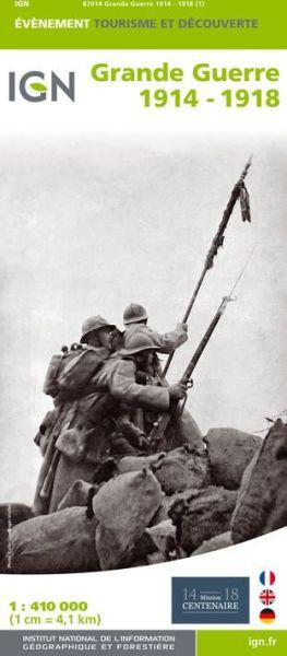 Grande Guerre 1914 - 1918, IGN Karte zum 1. Weltkrieg 1:410.000
