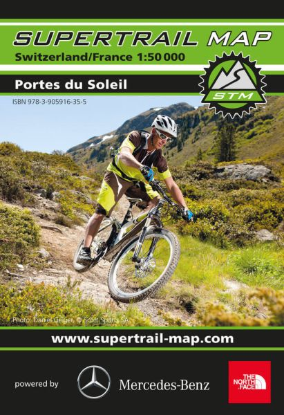 Supertrail Map Portes du Soleil Mountainbikekarte 1:50.000, reiß- und wasserfest (STM)