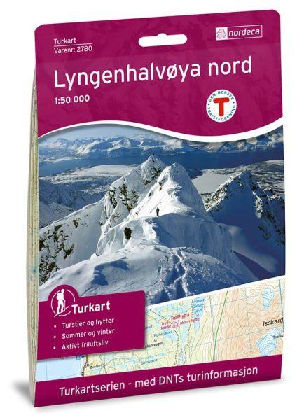 Lyngenhalvoya Nord / Lyngenhalvøya Nord Wanderkarte 1:50.000 – Norwegen, Turkart 2780 von Nordeca