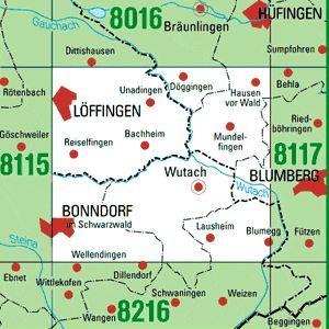8116 LÖFFINGEN topographische Karte 1:25.000 Baden-Württemberg, TK25