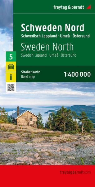 Schweden Nord, Östersund, Straßenkarte 1:400.000, Freytag und Berndt
