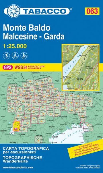 Tabacco 063 Monte Baldo - Malcesine - Garda Wanderkarte 1:25.000