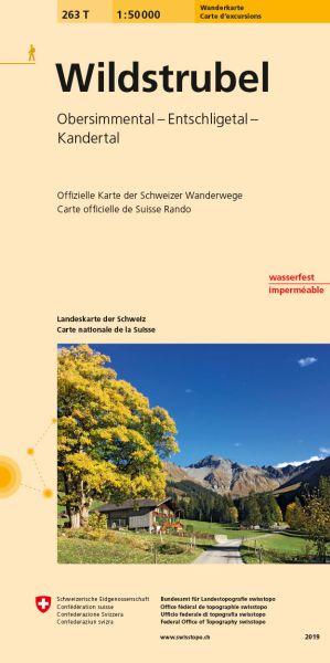 263 T Wildstrubel Wanderkarte 1:50.000 - Swisstopo