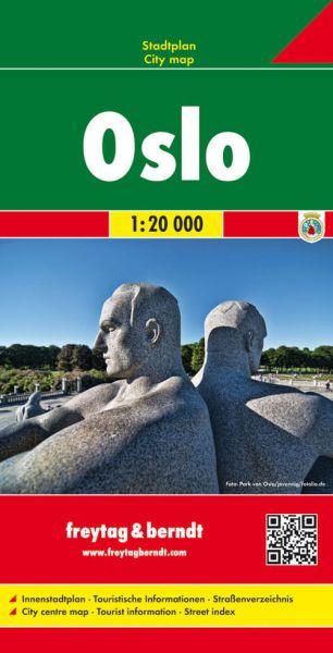 Oslo, Stadtplan 1:20.000, Freytag und Berndt