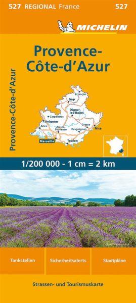 Michelin regional 527 Provence-Alpes-Côte d'Azur Straßenkarte 1:200.000