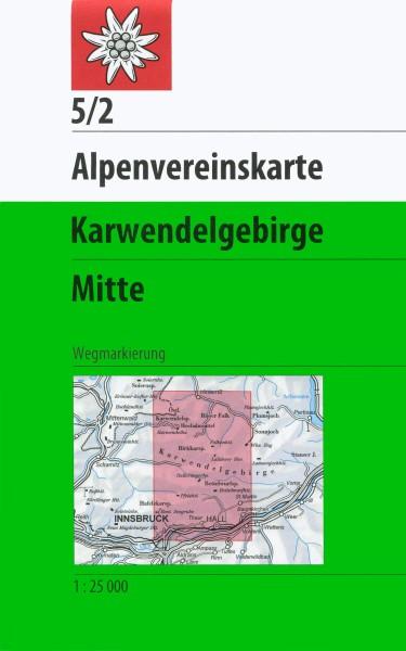 DAV Alpenvereinskarte 5/2 Karwendelgebirge Mitte, Wanderkarte 1:25.000