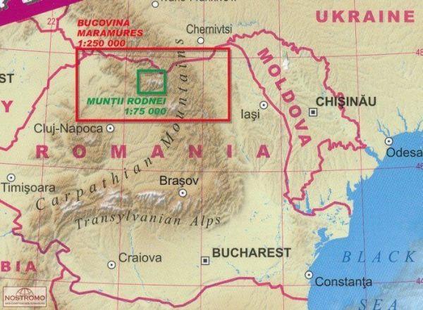 TerraQuest Bucovina Maramures Munti Rodnei Adventure Map 1:250.000/1:75.000