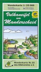 Vulkaneifel und Manderscheid, Wanderkarte 1:25.000 Eifelvereinskarte Bl. 33