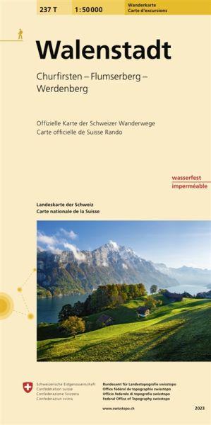 237 T Walenstadt Wanderkarte 1:50.000 wasserfest - Swisstopo