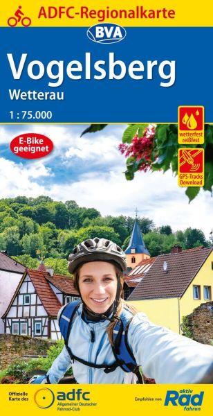 ADFC-Regionalkarte, Vogelsberg, Wetterau Radwanderkarte