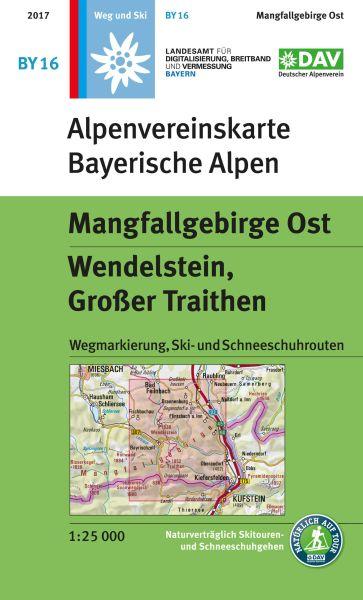 Alpenvereinskarte BY16 Mangfallgebirge Ost Wanderkarte 1:25.000