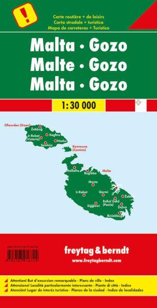 Malta - Gozo, Landkarte 1:30.000, Freytag und Berndt