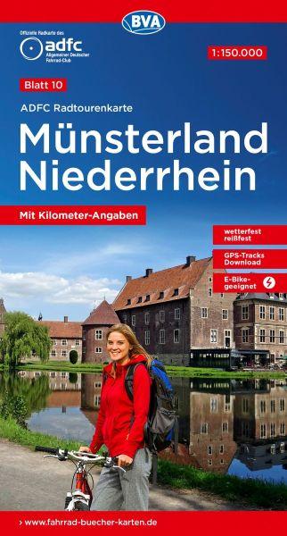 ADFC Radtourenkarte 10, Münsterland - Niederrhein Radwanderkarte