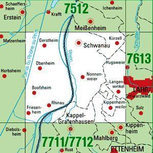 7612 LAHR / SCHWARZWALD WEST topographische Karte 1:25.000 Baden-Württemberg, TK25