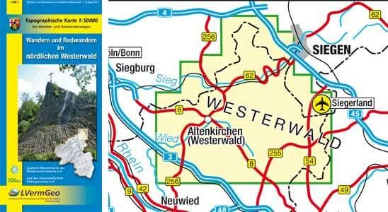 Nördlicher Westerwald Wanderkarte / Radkarte 1:50.000