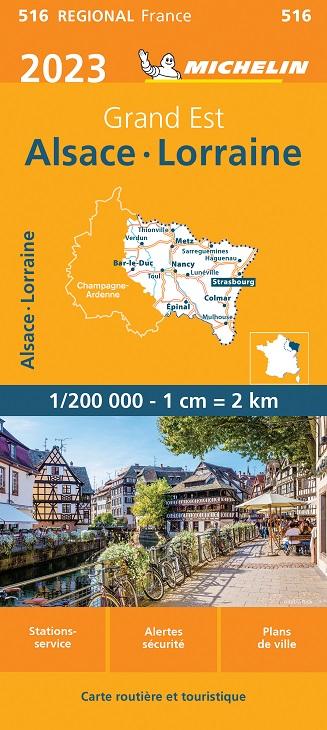 Cevennen Karte.Michelin Regional 516 Elsass Lothringen Wetterfeste Karte 1 200 000
