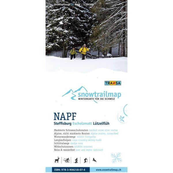 Snow Trail Map 18, Napf 1:50.000 – Schneeschuhwander-Karte