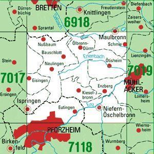 Pforzheim Karte.7018 Pforzheim Nord Topographische Karte Baden Württemberg Tk25 1 25000
