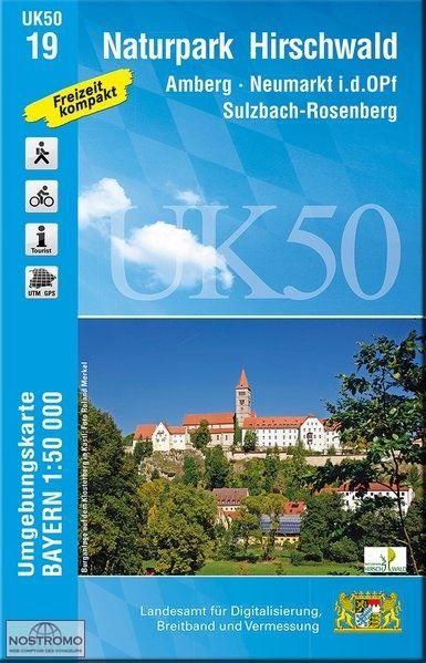 UK50-19 Naturpark Hirschwald Rad- und Wanderkarte 1:50.000 - Umgebungskarte Bayern