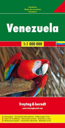 Venezuela, Straßenkarte 1:1.000.000, Freytag und Berndt
