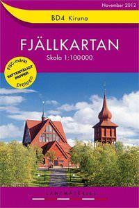 Fjällkartan BD4 Schweden Trekking- und Wintersportkarte 1:100.000