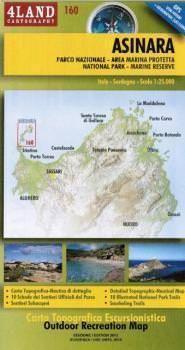 Sardinien MTB- und Wanderkarte: Asinara 1.25.000