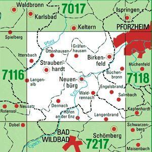7117 BIRKENFELD topographische Karte 1:25.000 Baden-Württemberg, TK25