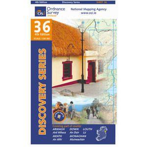 OSI 36 Armagh, Down, Louth, Meath, Monaghan Wanderkarte 1:50.000 - Ordnance Survey Ireland