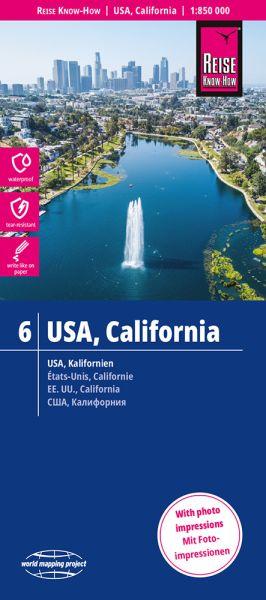 USA 6 Kalifornien Landkarte 1:850.000, Reise Know-How