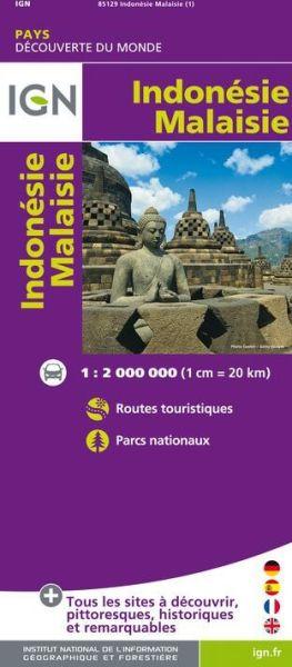 Indonesien und Malaysia Straßenkarte 1:2.000.000, IGN