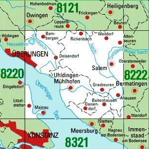 8221 ÜBERLINGEN OST topographische Karte 1:25.000 Baden-Württemberg, TK25