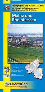 Mainz und Rheinhessen topographische Wander- und Radwanderkarte 1:50.000