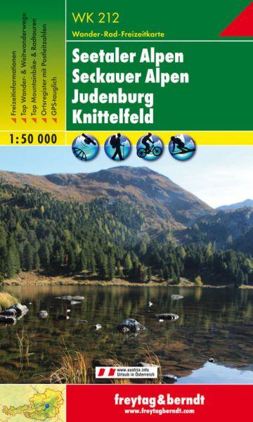 WK 212, Seetaler Alpen, Seckauer Alpen, Judenburg, Wanderkarte 1:50.000, Freytag und Berndt