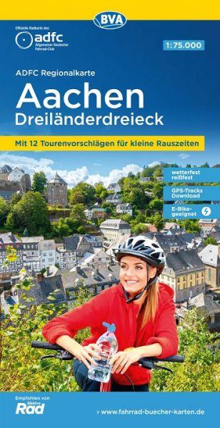 ADFC-Regionalkarte, Aachen, Dreiländereck, Radwanderkarte 1:75.000