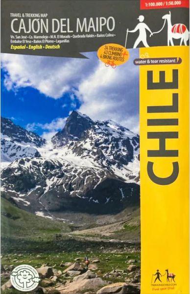 Wanderkarte Chile: Cajón del Maipo 1:100.000 / 1:50.000