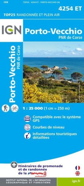 IGN 4254 ET Porto-Vecchio, Korsika Wanderkarte 1:25.000