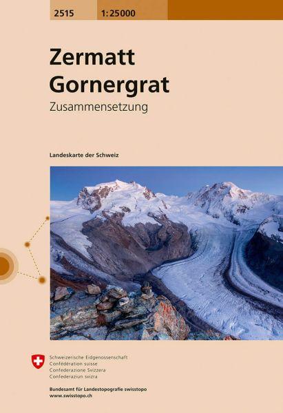 2515 Zermatt - Gornergrat topographische Wanderkarte Schweiz 1:25.000