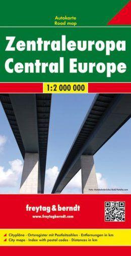 Zentraleuropa Übersichtskarte mit Fernstraßen 1:2.000.000, Freytag und Berndt