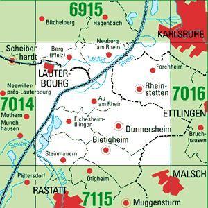 7015 RHEINSTETTEN topographische Karte 1:25.000 Baden-Württemberg, TK25