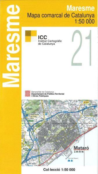 Spanien Katalonien Karte.Maresme Katalonien Topographische Karte Spanien 1 50 000 Icc 21